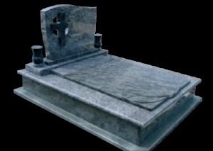 Csepp fedlapos síremlék keresztes fejkő
