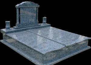 Háromrészes-fedlapos-síremlék-oszlopos-fejkő-3-400x284
