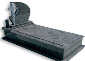 Klasszik fedlapos síremlék keresztes emlékkel