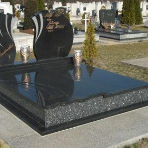 Labrador Blue Indiai fekete gránit kripta családi sírbolt