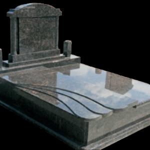 Szinteltolt hullám fedlapos síremlék oszlopos