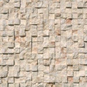 White sprengelt mészkő mozaik