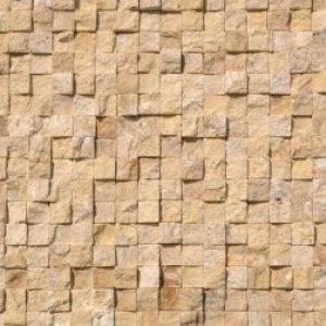 Yellow sprengelt mészkő mozaik (2)