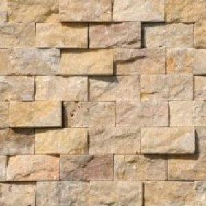 Yellow sprengelt mészkő mozaik