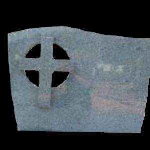 Zászlós keresztes sírkőemlék