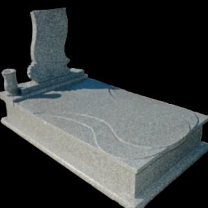 Csepp fedlapos legyezős síremlék