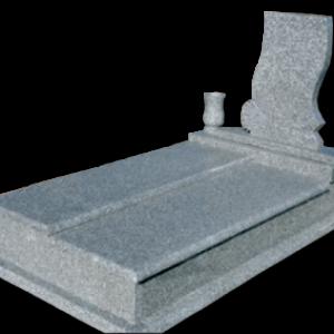 Szinteltolt fedlapos legyezős síremlék