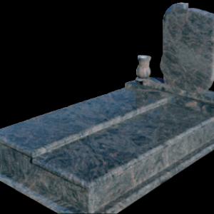 Szinteltolt fedlapos síremlék csigás emlékkel