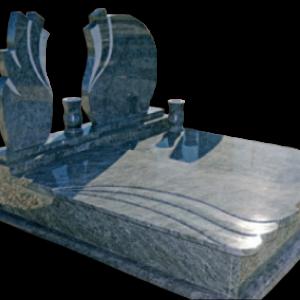 Szinteltolt hullám fedlapos síremlék kétrszes asszimetrikus