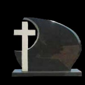 Íves keresztes sírkőemlék